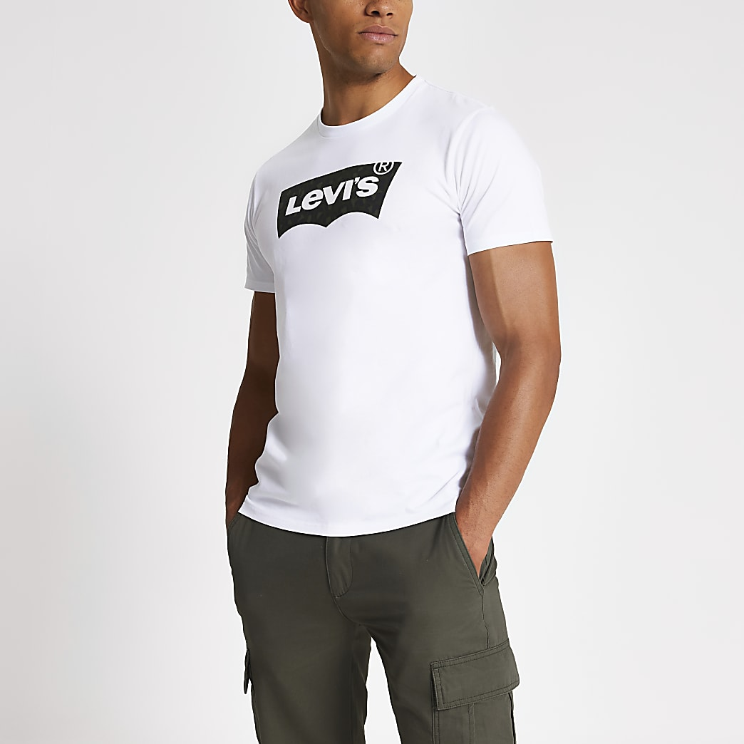 Levi's white logo short sleeve T-shirt