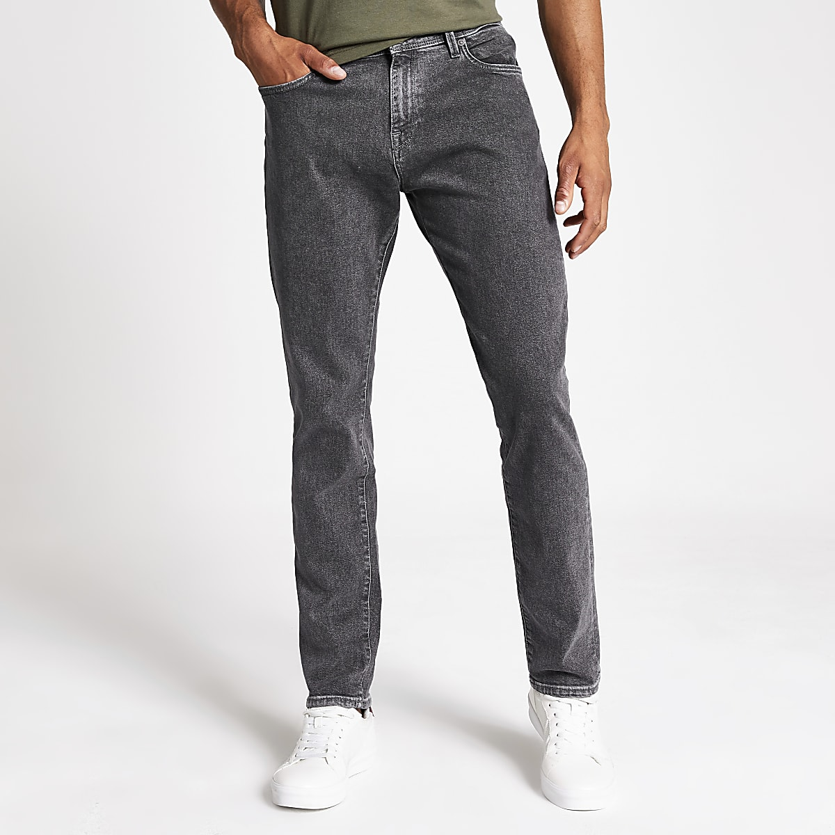 Selected Homme Leon grey slim fit jeans