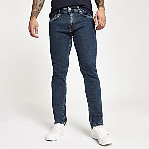 Selected Homme Leon - Middenblauwe slim-fit jeans