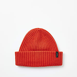 Selected Homme– Gerippte Woll-Beanie in Orange