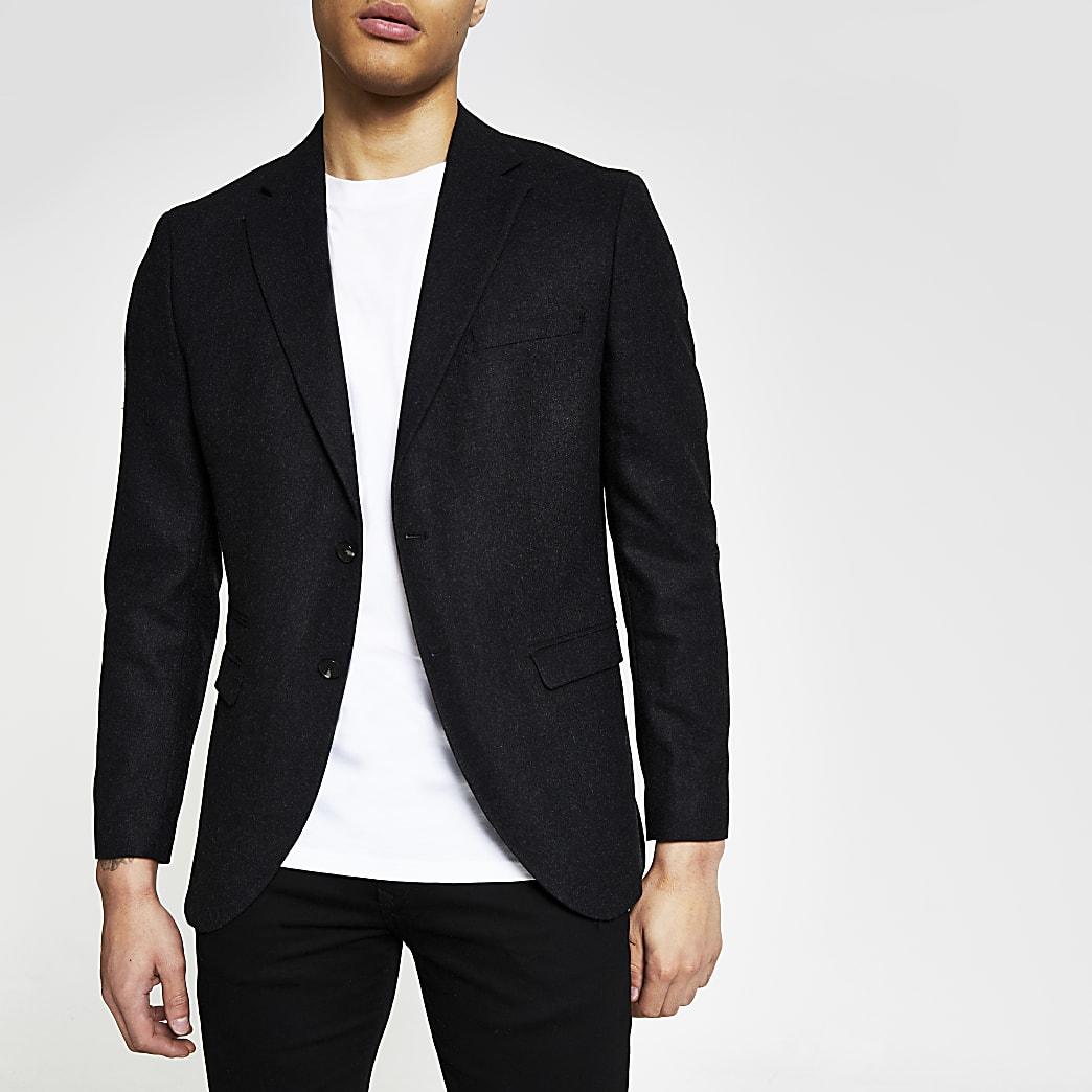 allacciarsi dentro bello e affascinante shop Selected Homme dark grey blazer | River Island