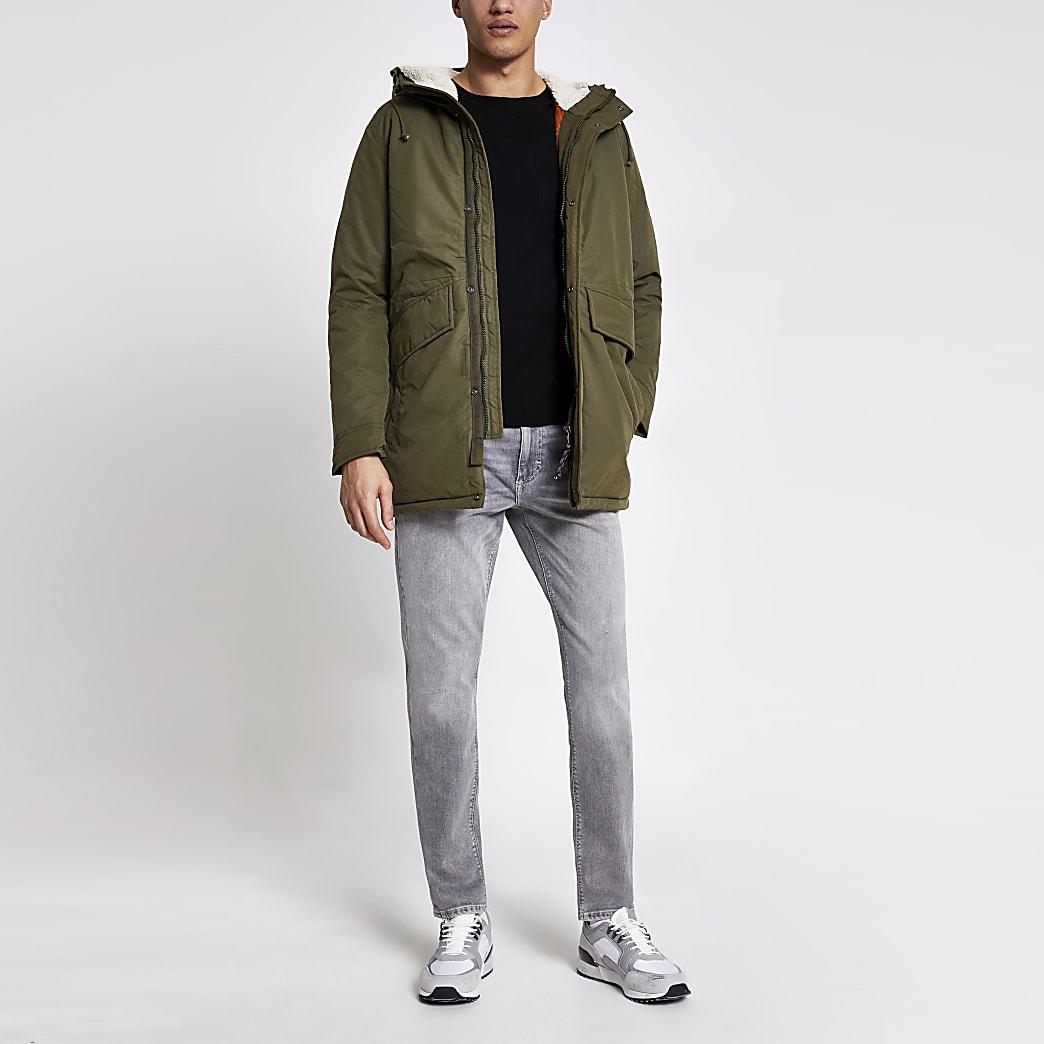 Jack and Jones khaki parka jacket