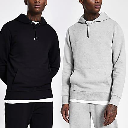 Grey and black hoodie 2 pack