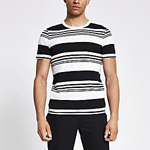 Jack and Jones - Wit gestreept T-shirt