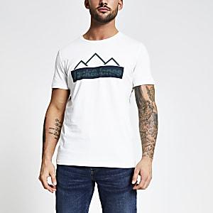 Jack and Jones - Wit T-shirt met print