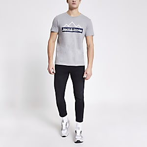 Jack and Jones - Grijs T-shirt met print
