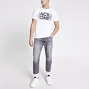 Jack & Jones – Weißes T-Shirt mit Print