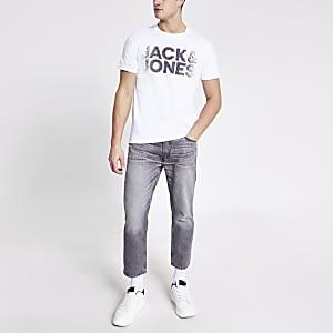 Jack & Jones – T-shirt imprimé blanc