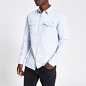 Jack and Jones - Lichtblauw denim overhemd