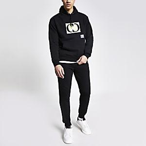 Criminal Damage - Zwarte oversized hoodie met logo