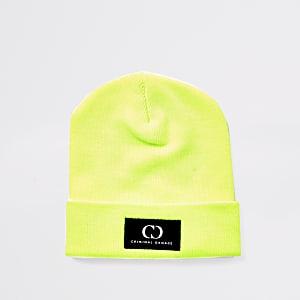 Criminal Damage - Neon-groene beaniemuts