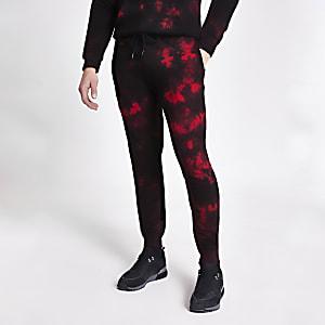 CriminalDamage- Zwarte tie-dyejoggingbroek