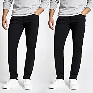 Zwarte slim-fit Dylan jeans set van 2