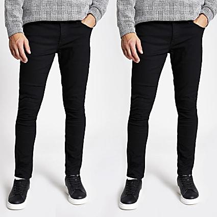 Black Sid skinny jeans 2 pack