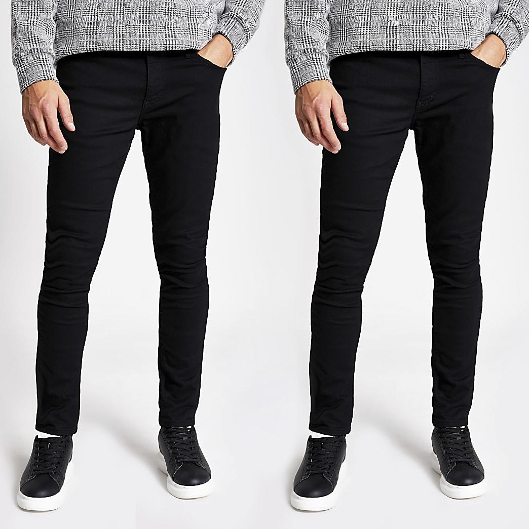 Lot de2 jeans Sidskinny noirs