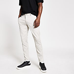Only and Sons - Kiezelkleurige tapered broek