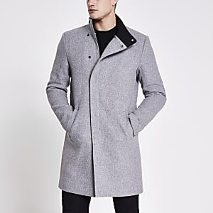 Only and Sons – Manteau en laine gris