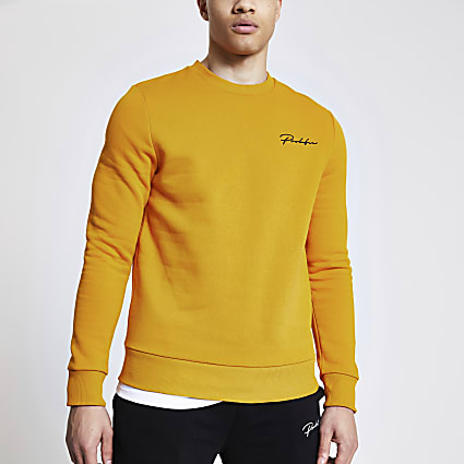 Prolific mustard slim fit sweatshirt