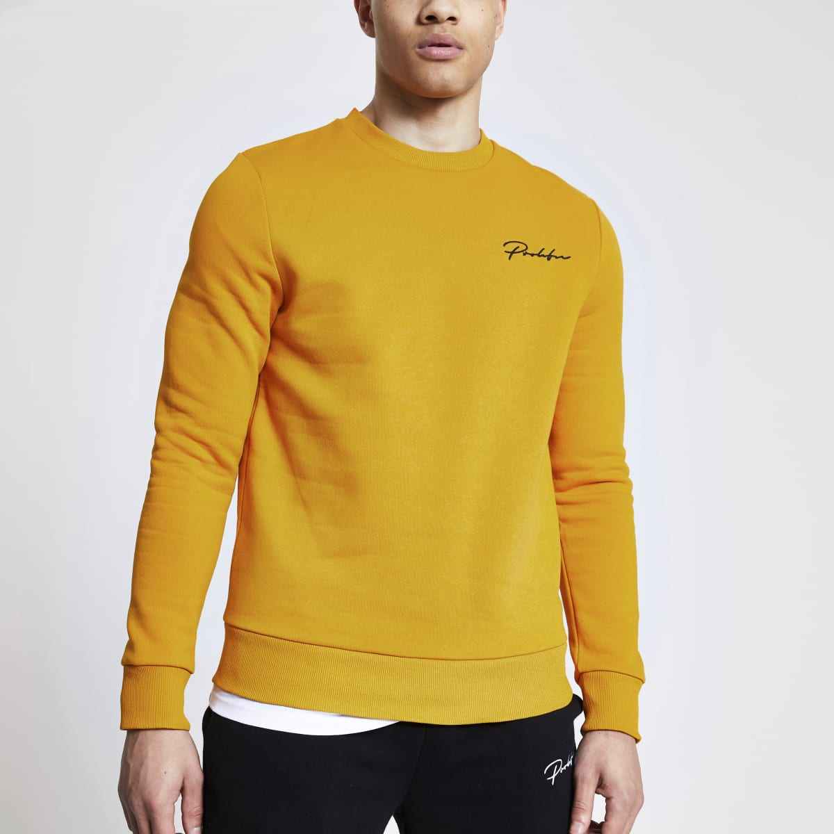 Prolific mustard slim fit sweatshirt
