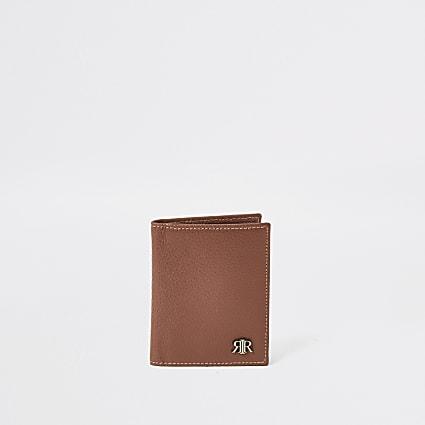 Brown leather textured RIR wallet