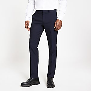 Selected Homme - Marineblauwe slim-fit broek