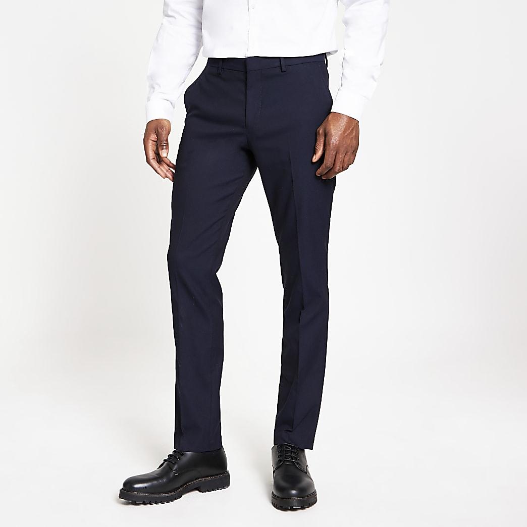 Selected Homme - Marineblauwe slim-fit broek