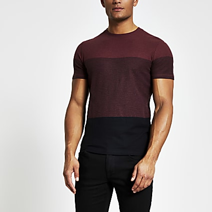 Selected Homme red blocked T-shirt