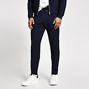 Pantalon de jogging bleu marine texturé