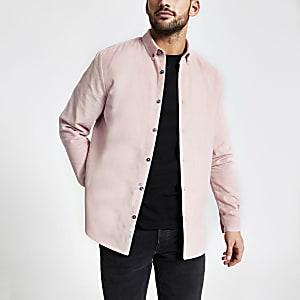 Maison RIviera– Chemise en velours côtelé rose