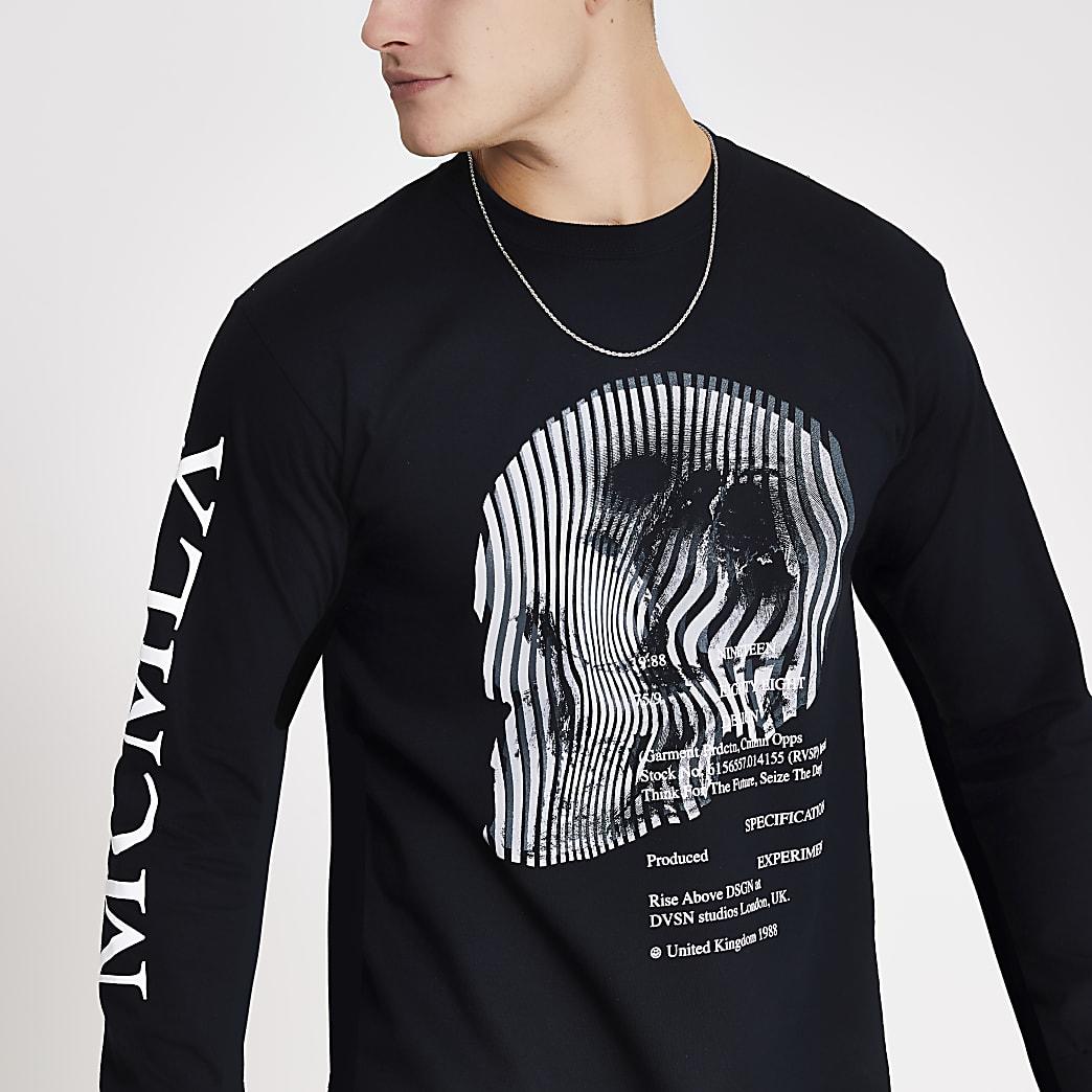 MCMLX black printed long sleeve T-shirt