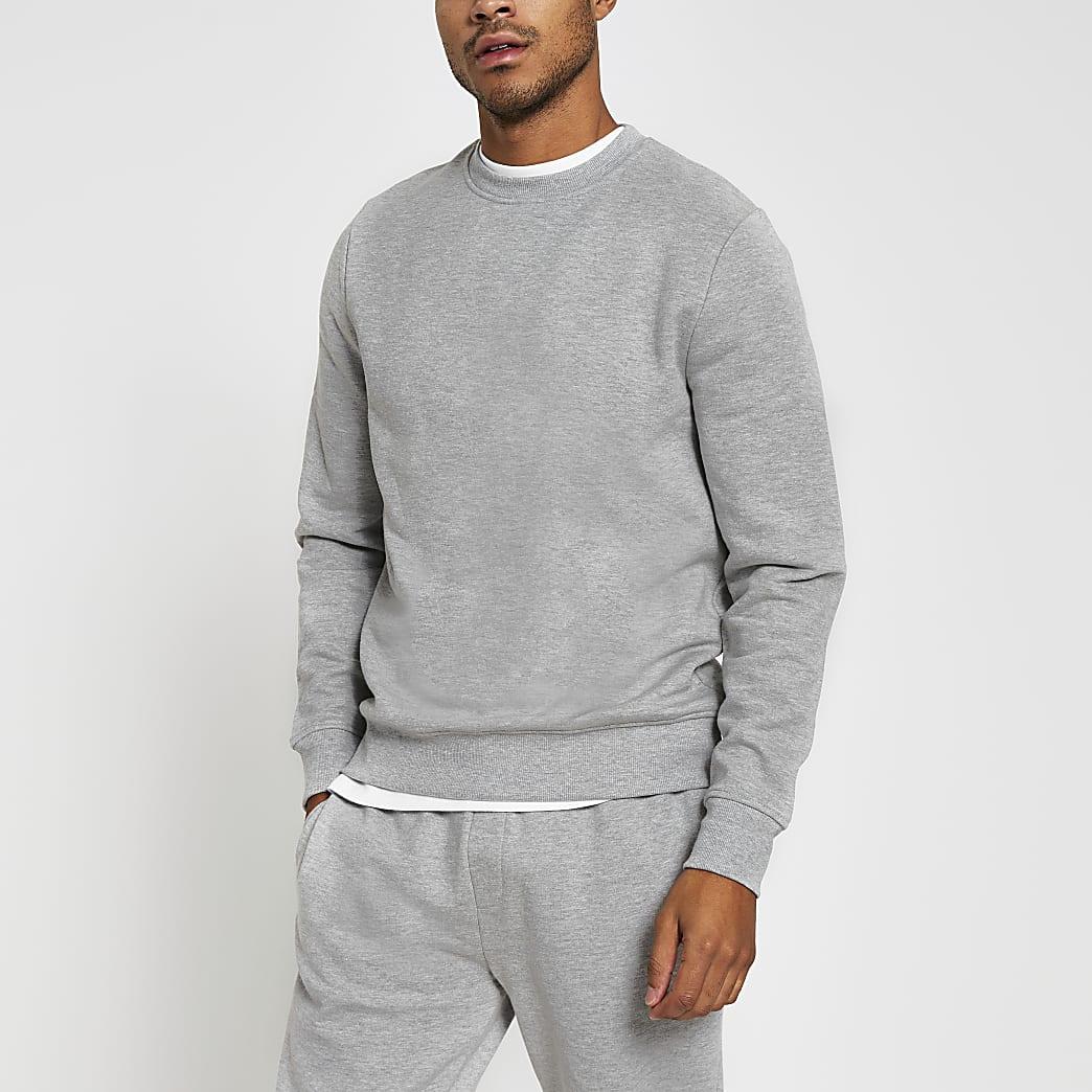 Grey marl long sleeve sweatshirt