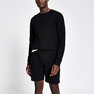 Zwarte slim-fit short