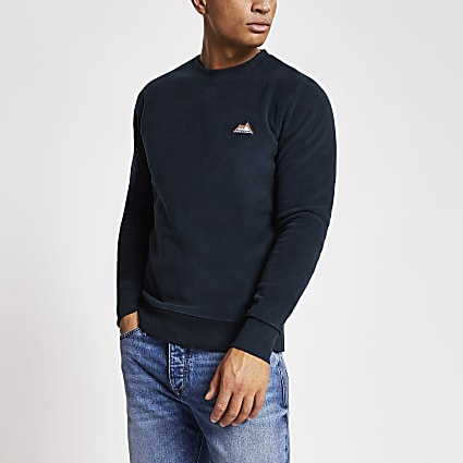 Jack and Jones navy fleece sweatshirt