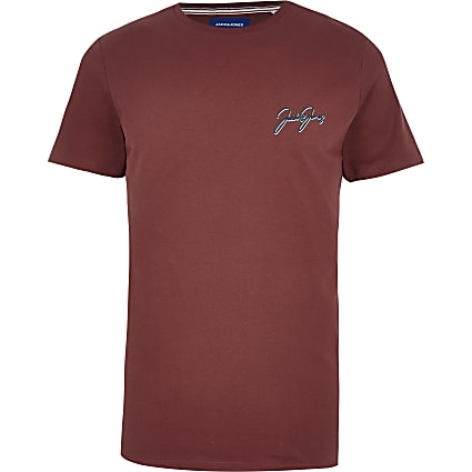 Jack and Jones red short sleeve T-shirt