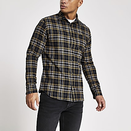 Jack and Jones navy check shirt