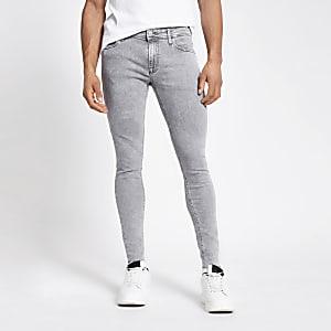 Jack and Jones– Jean skinny original gris