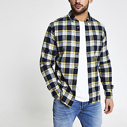 Jack and Jones yellow check shirt