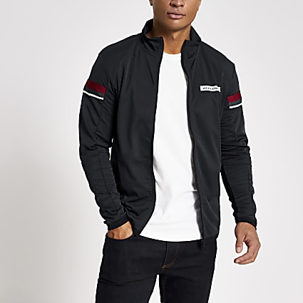 Jack and Jones navy zip front sweat jacket