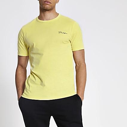 Prolific yellow slim fit T-shirt