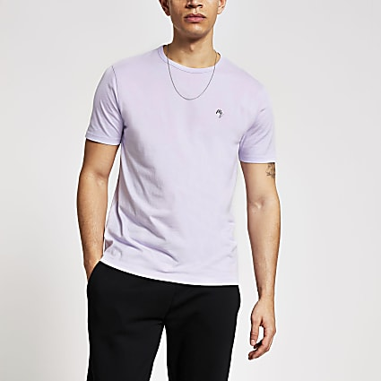 Maison Riviera purple slim fit T-shirt