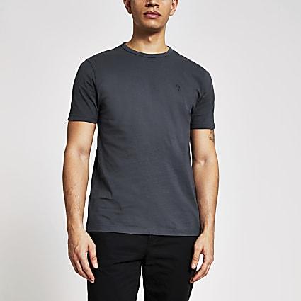 Maison Riviera grey slim fit T-shirt