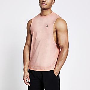 Maison Riviera - Roze muscle fit tanktop