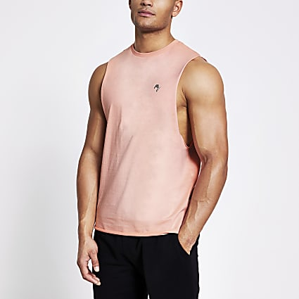 Maison Riviera pink muscle fit tank top