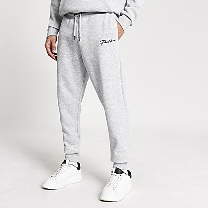 Prolific grey regular fit joggers