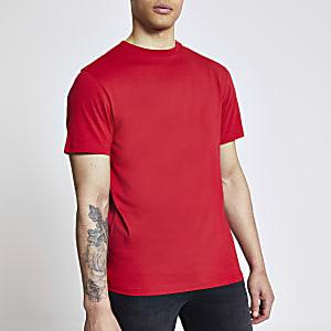 T-shirt classique rougeà manches courtes