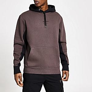DVSN - Paarse hoodie met kleurvlakken