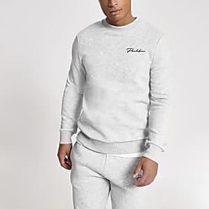 Sweatshirt slim gris Prolific