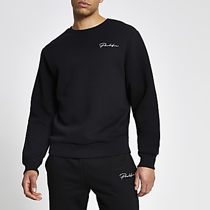 Prolific black regular fit sweatshirt