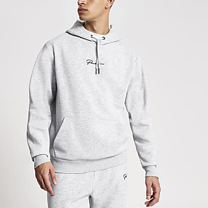 Prolific grey regular fit hoodie
