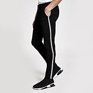 Pantalon de jogging habillé ultra skinnynoir avec bande latérale